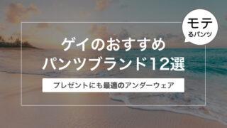ゲイのおすすめパンツブランド12選〜プレゼントにも最適のアンダーウェア〜