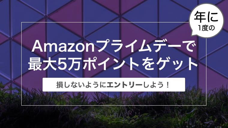 【まだ間に合う!】今年もAmazonプライムデーで最大5万ポイントをゲットしよう!